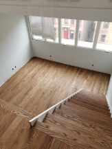 NYC Project: Loft apartment with white oak 3 1/4'' planks with a goregous jacobean stain finish