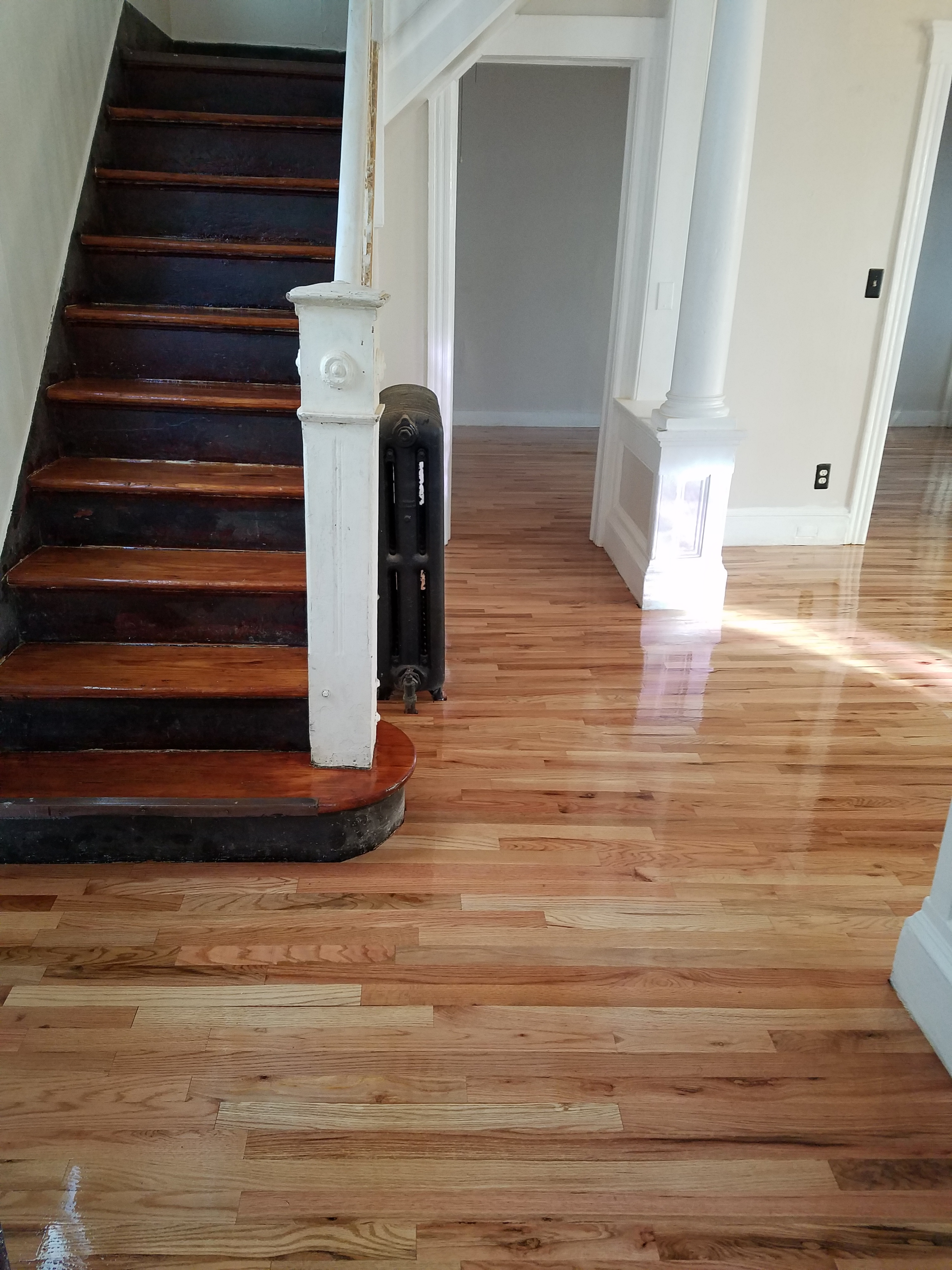 renovation before repair kitchen and wood burger stain after progress floors the hardwood floor jenna staining patch
